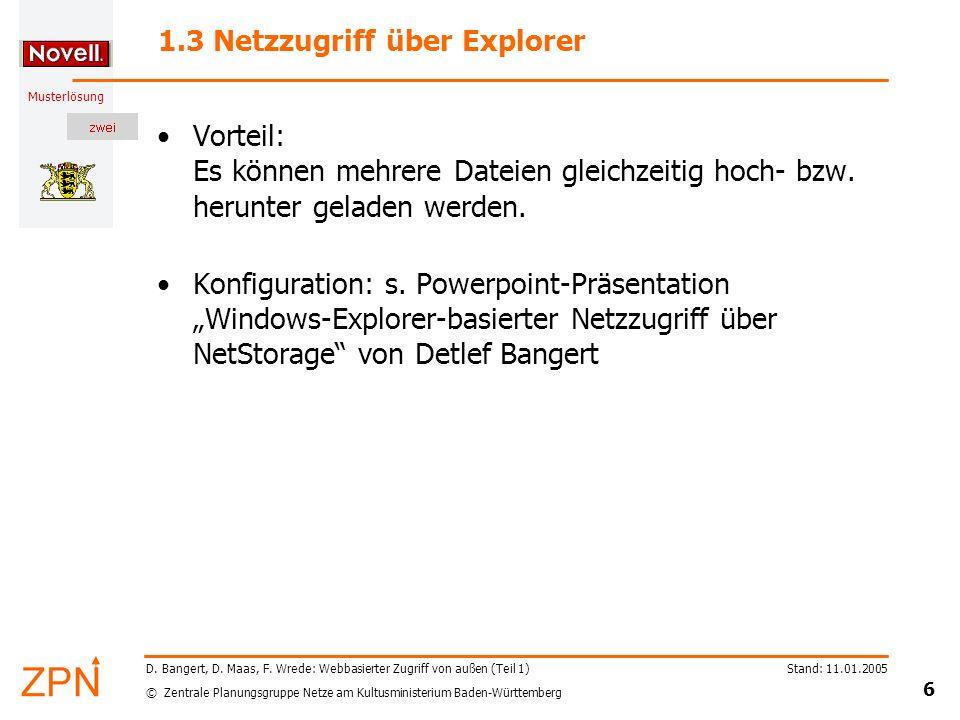 1.3 Netzzugriff über Explorer