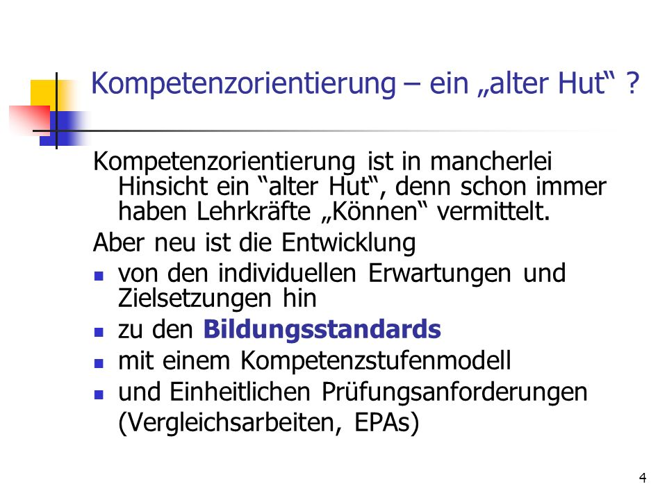 """Kompetenzorientierung – ein """"alter Hut"""