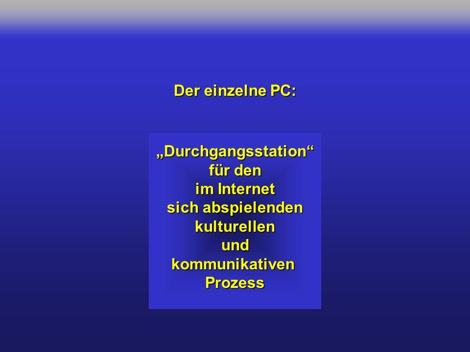 """Der einzelne PC: """"Durchgangsstation für den. im Internet. sich abspielenden. kulturellen. und."""