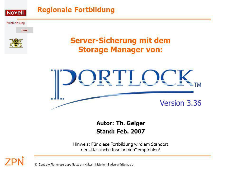Server-Sicherung mit dem Storage Manager von: