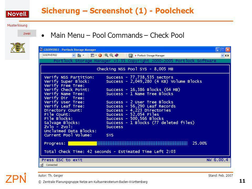 Sicherung – Screenshot (1) - Poolcheck