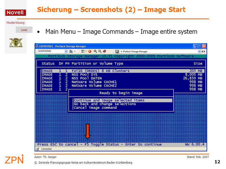 Sicherung – Screenshots (2) – Image Start