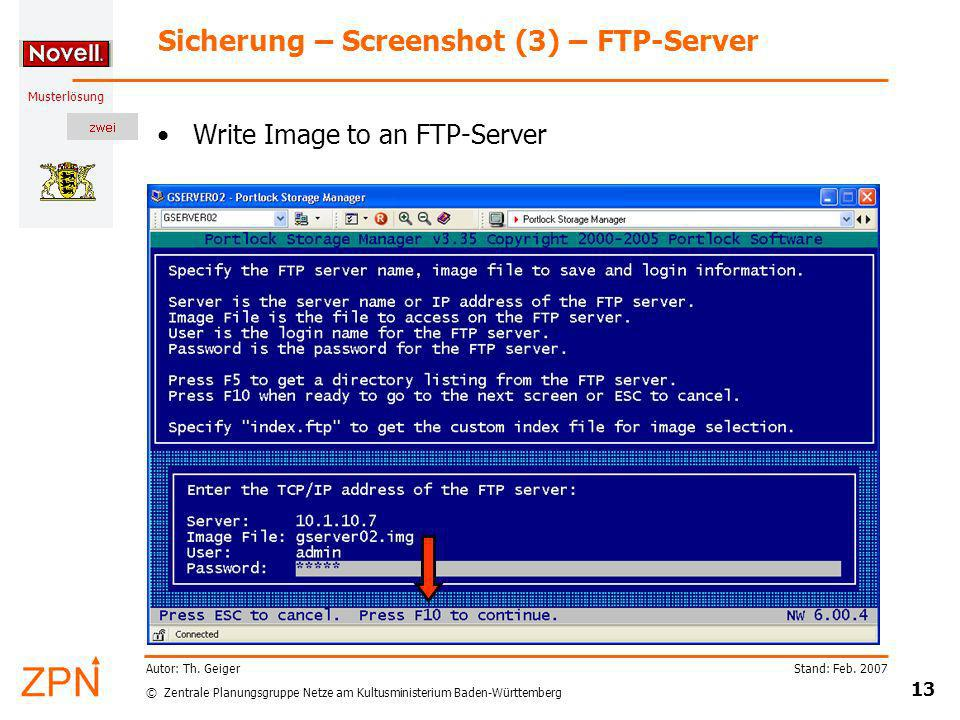 Sicherung – Screenshot (3) – FTP-Server