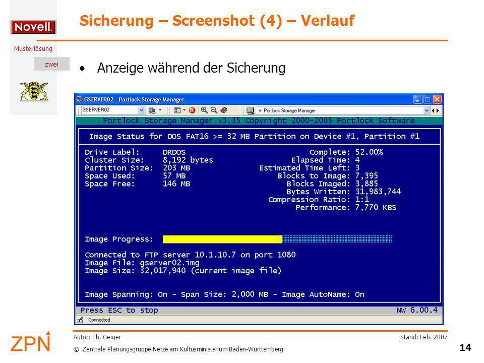 Sicherung – Screenshot (4) – Verlauf