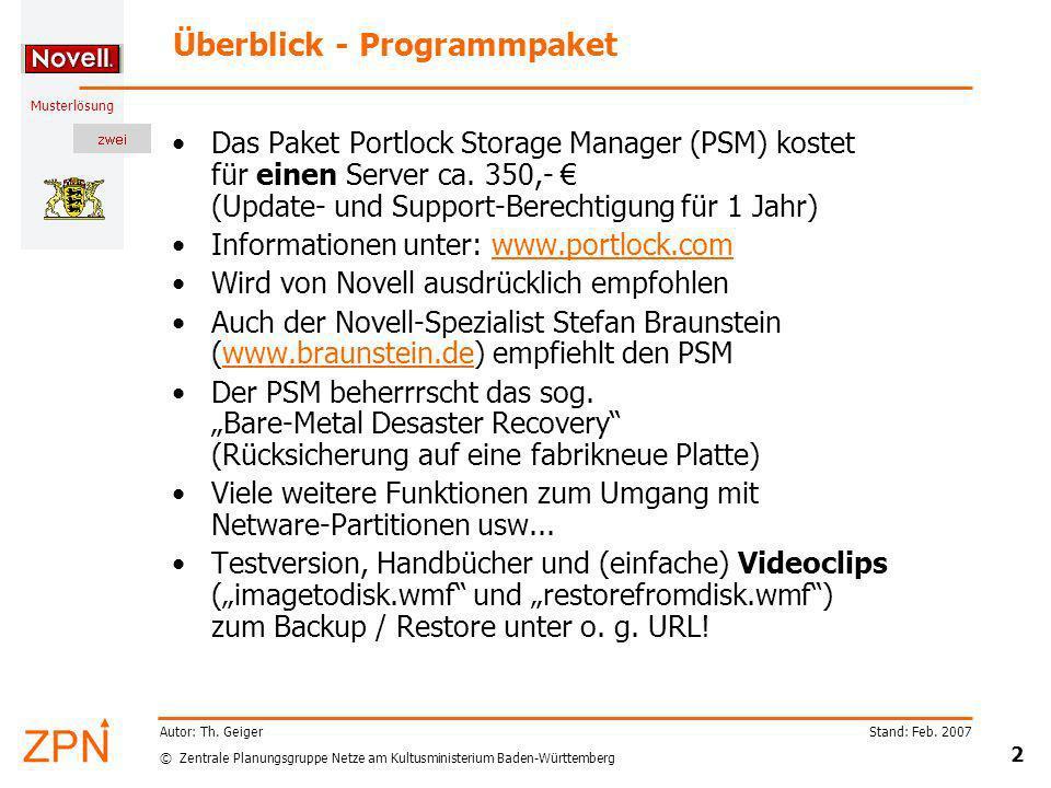 Überblick - Programmpaket