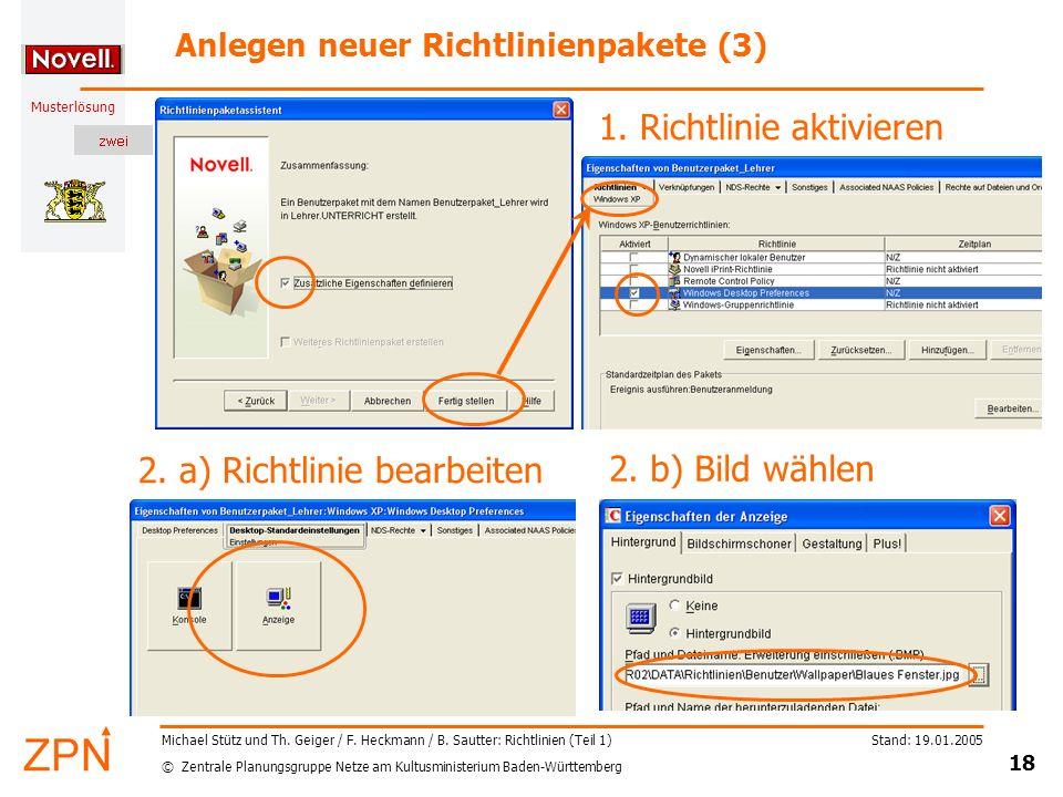 Anlegen neuer Richtlinienpakete (3)