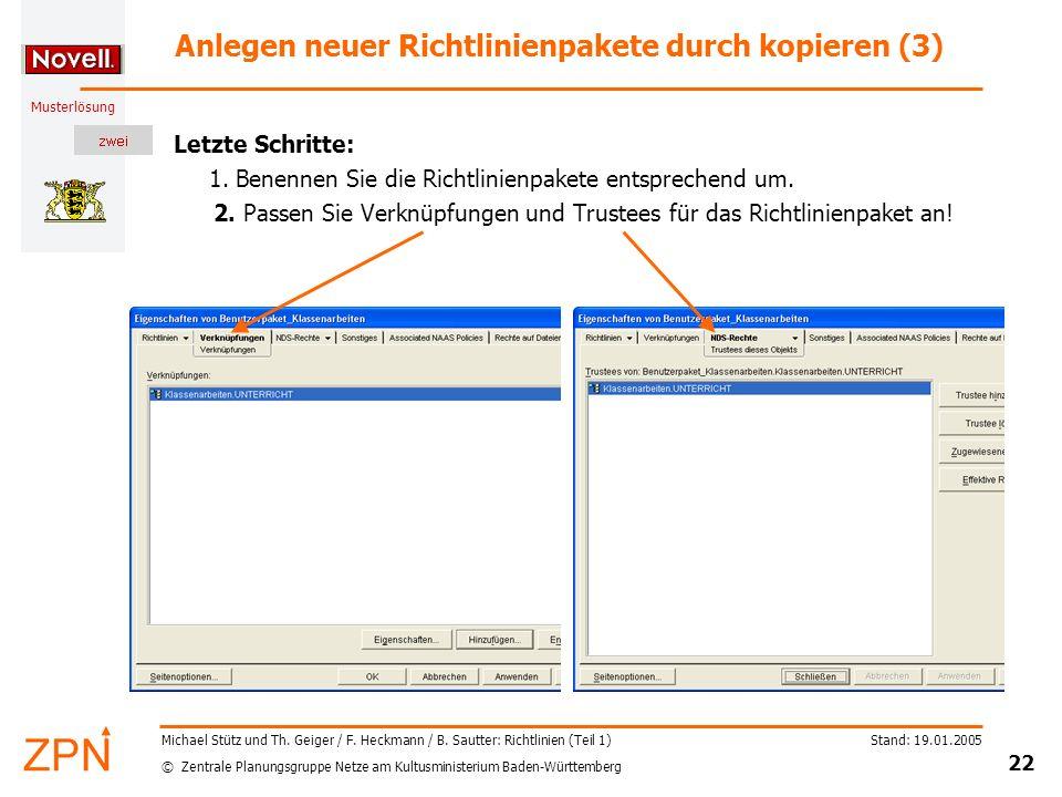 Anlegen neuer Richtlinienpakete durch kopieren (3)