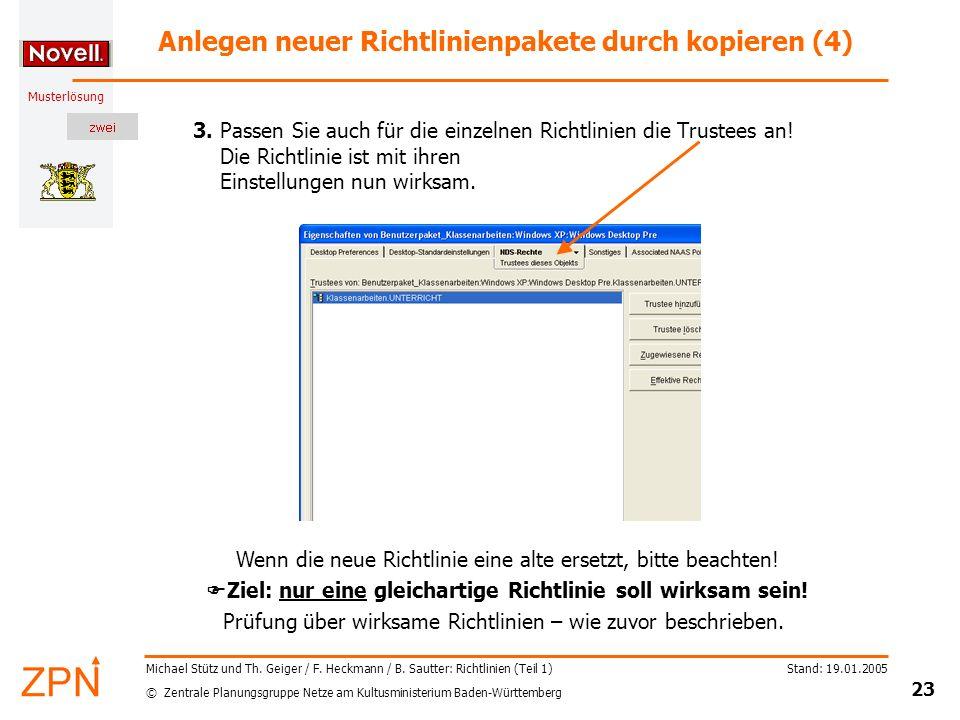 Anlegen neuer Richtlinienpakete durch kopieren (4)