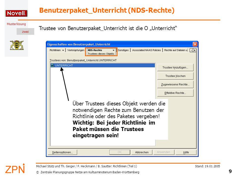 Benutzerpaket_Unterricht (NDS-Rechte)
