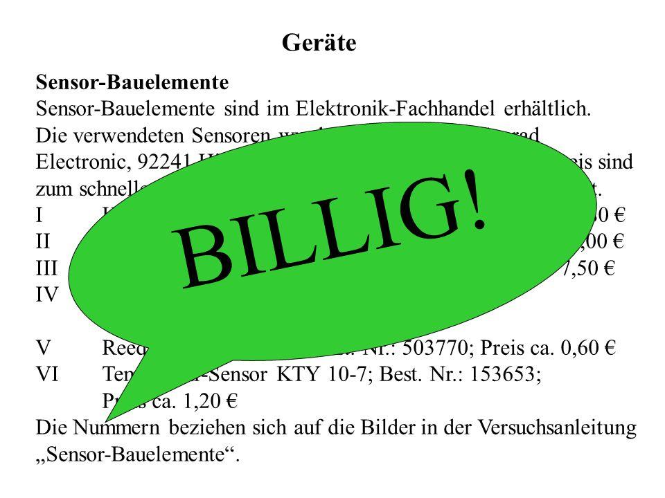 BILLIG! Geräte Sensor-Bauelemente