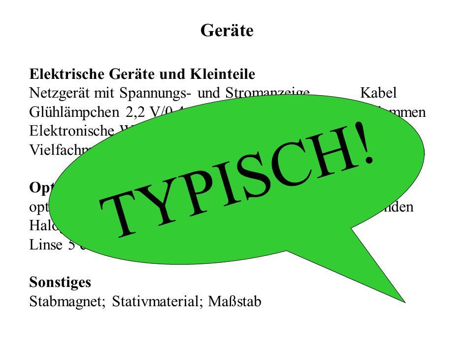 TYPISCH! Geräte Elektrische Geräte und Kleinteile