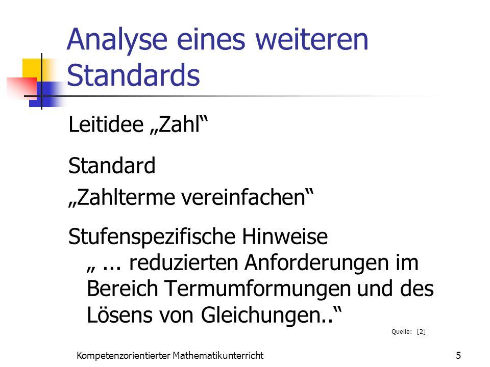 Analyse eines weiteren Standards