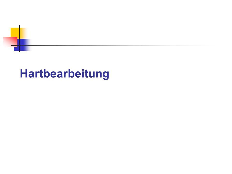 Hartbearbeitung