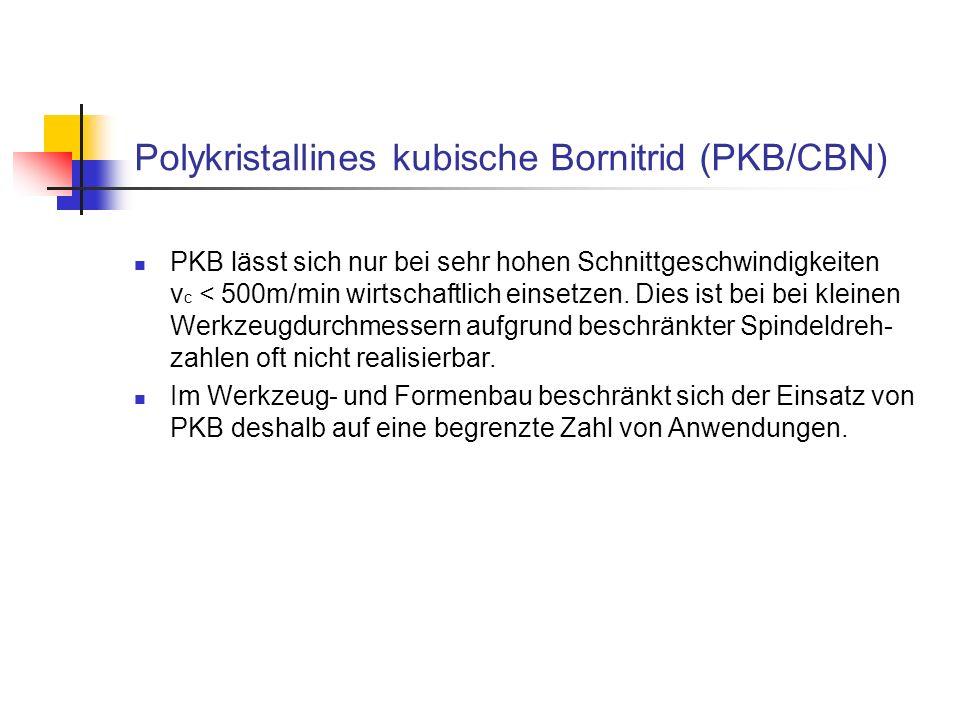 Polykristallines kubische Bornitrid (PKB/CBN)