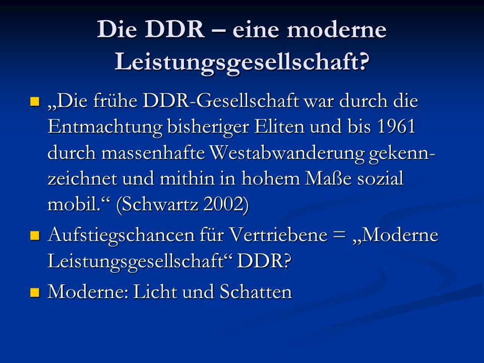 Die DDR – eine moderne Leistungsgesellschaft