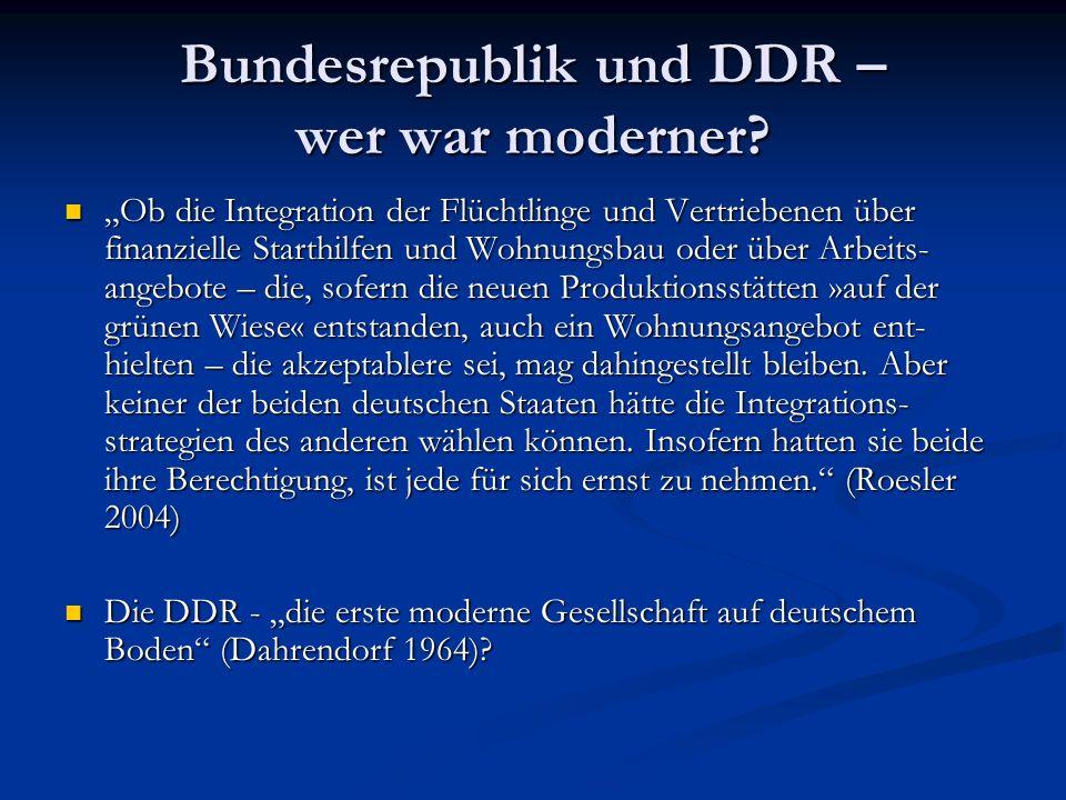 Bundesrepublik und DDR – wer war moderner