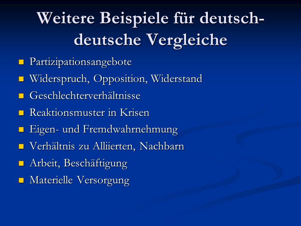 Weitere Beispiele für deutsch-deutsche Vergleiche