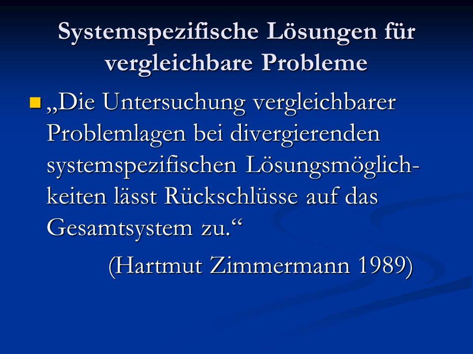 Systemspezifische Lösungen für vergleichbare Probleme