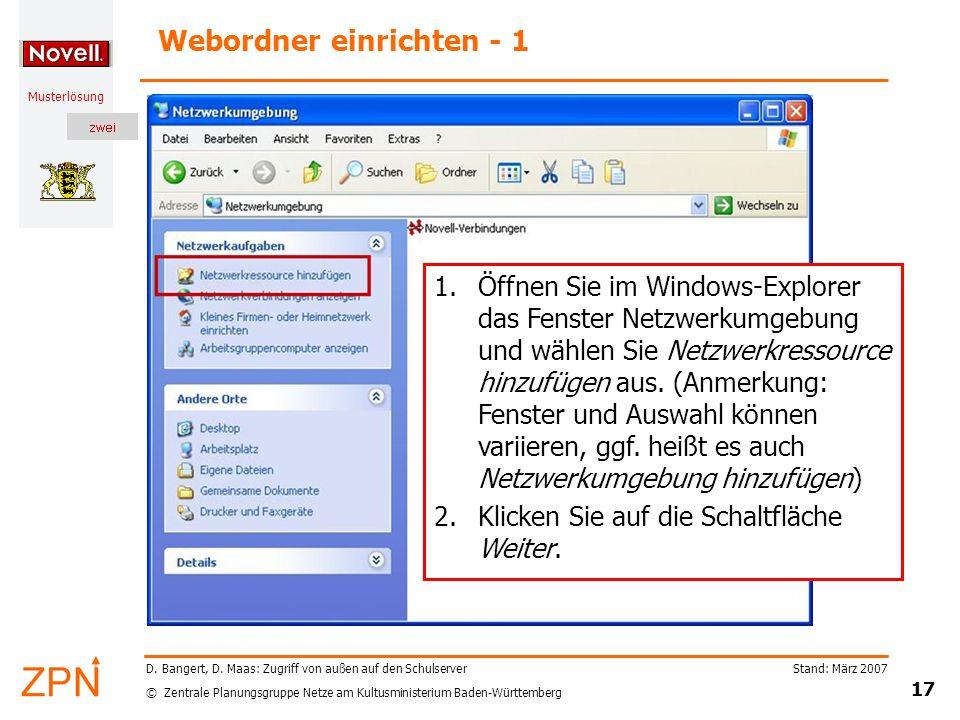Webordner einrichten - 1