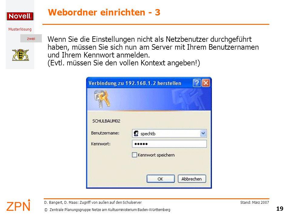 Webordner einrichten - 3