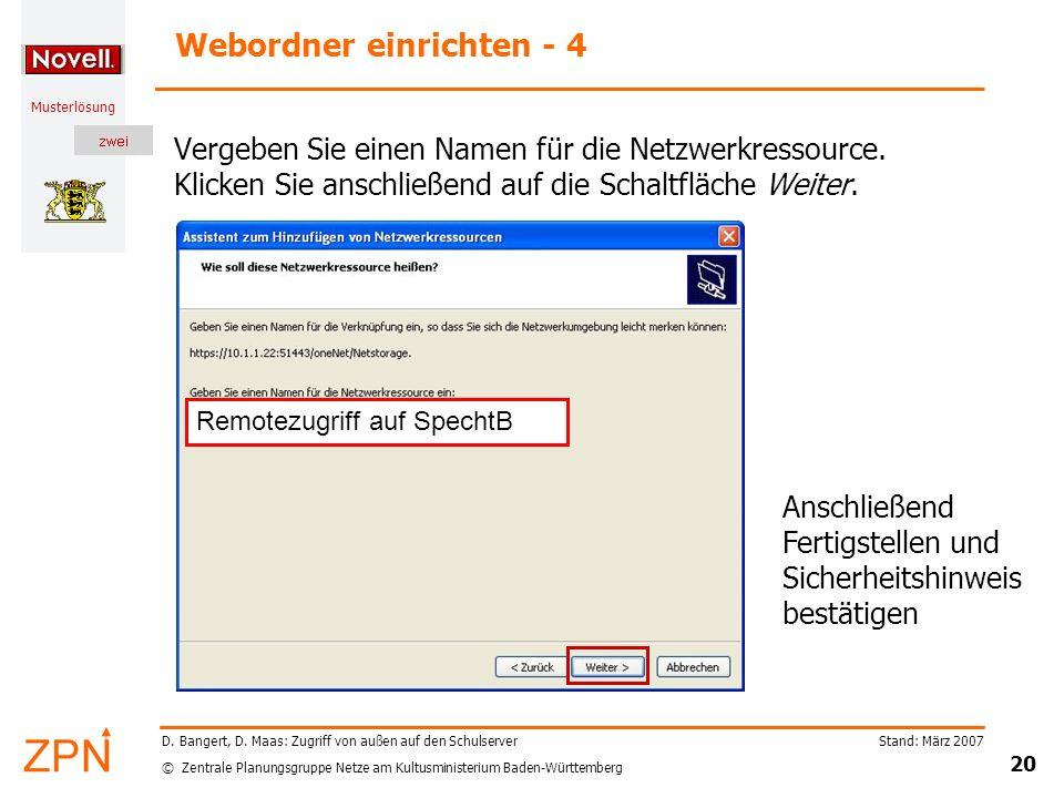 Webordner einrichten - 4