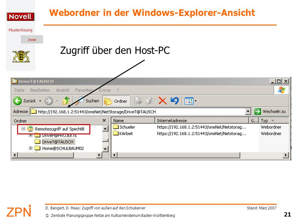 Webordner in der Windows-Explorer-Ansicht
