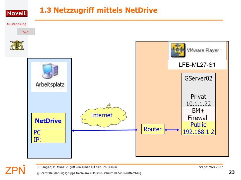 1.3 Netzzugriff mittels NetDrive