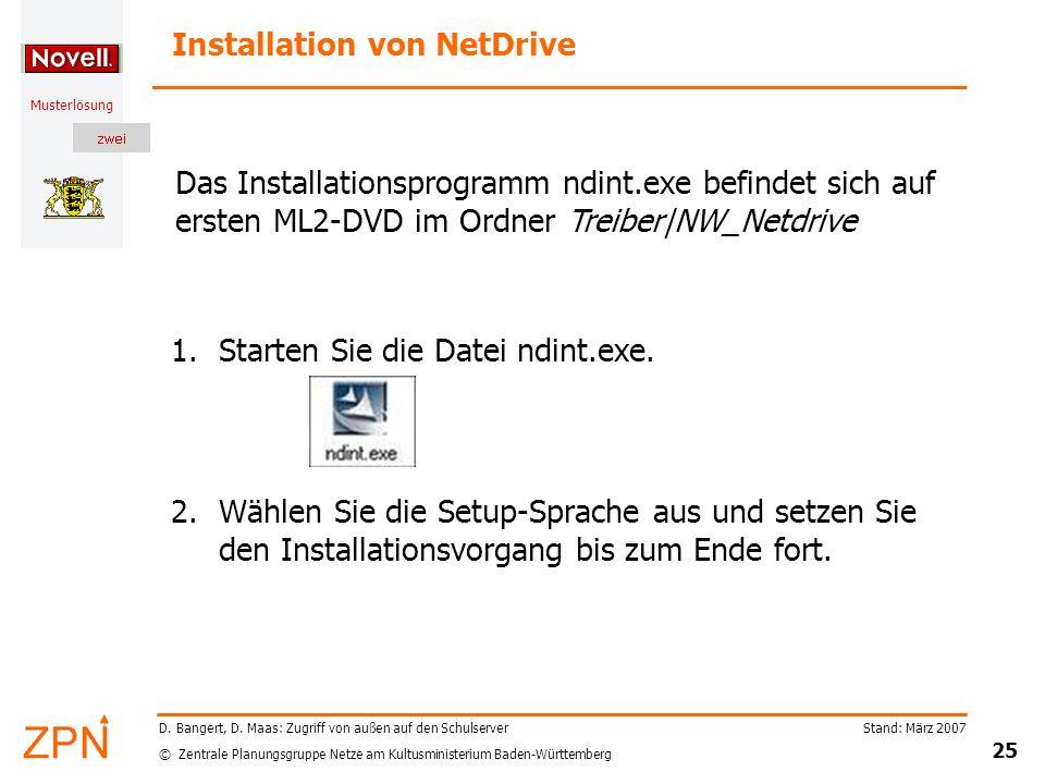 Installation von NetDrive