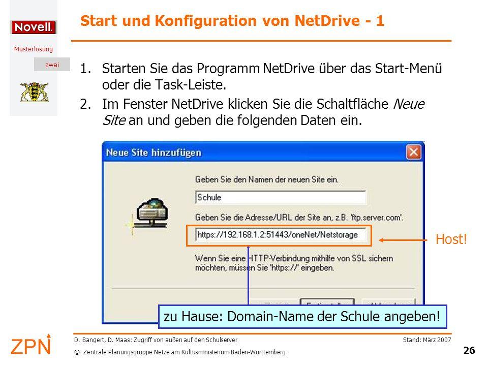 Start und Konfiguration von NetDrive - 1
