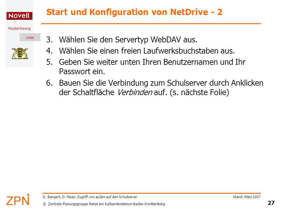 Start und Konfiguration von NetDrive - 2