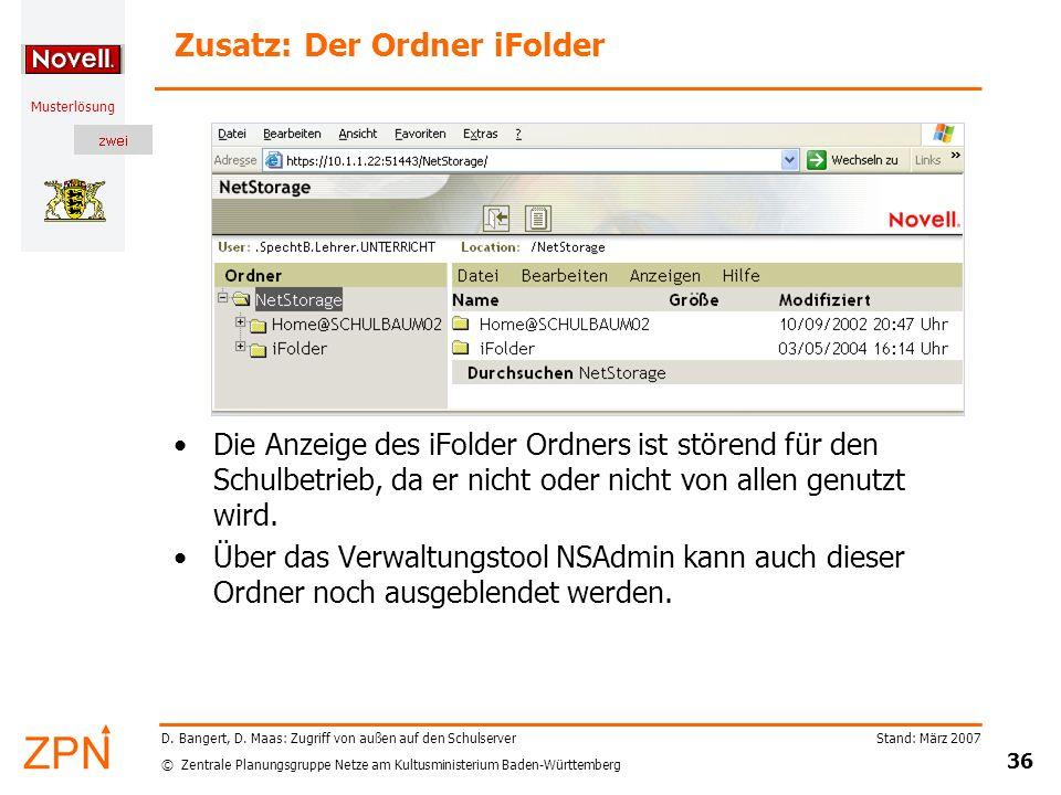 Zusatz: Der Ordner iFolder
