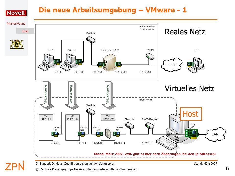 Die neue Arbeitsumgebung – VMware - 1