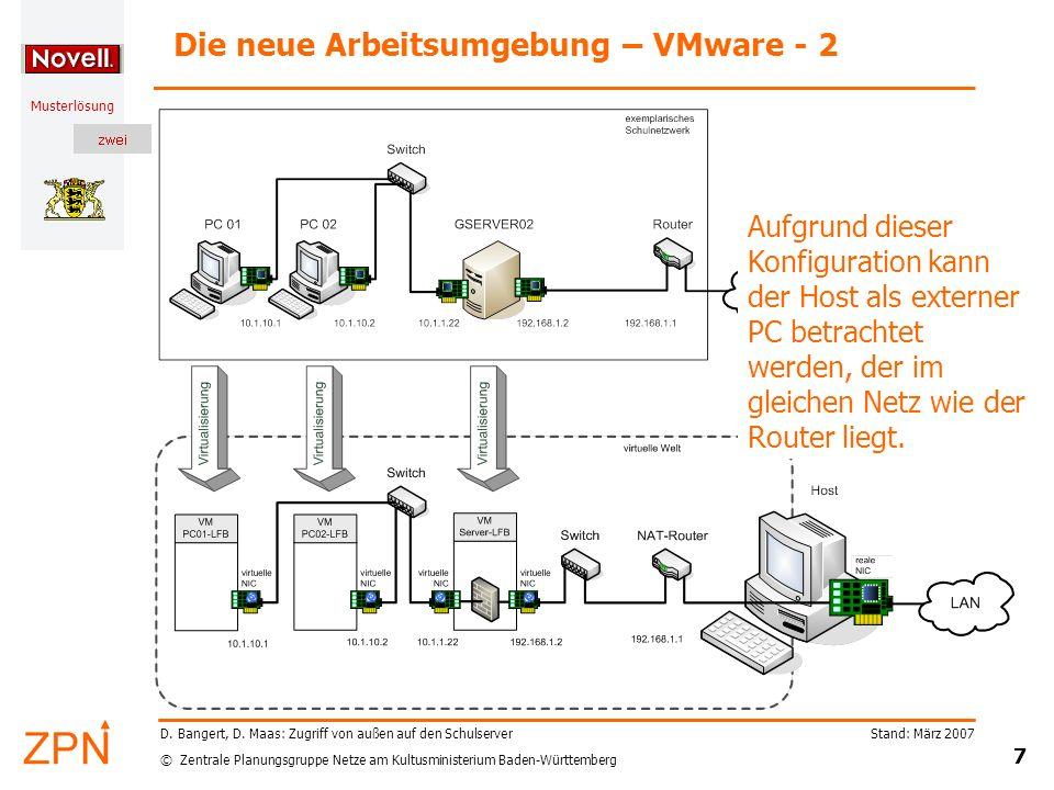 Die neue Arbeitsumgebung – VMware - 2