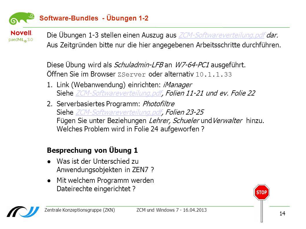Software-Bundles - Übungen 1-2