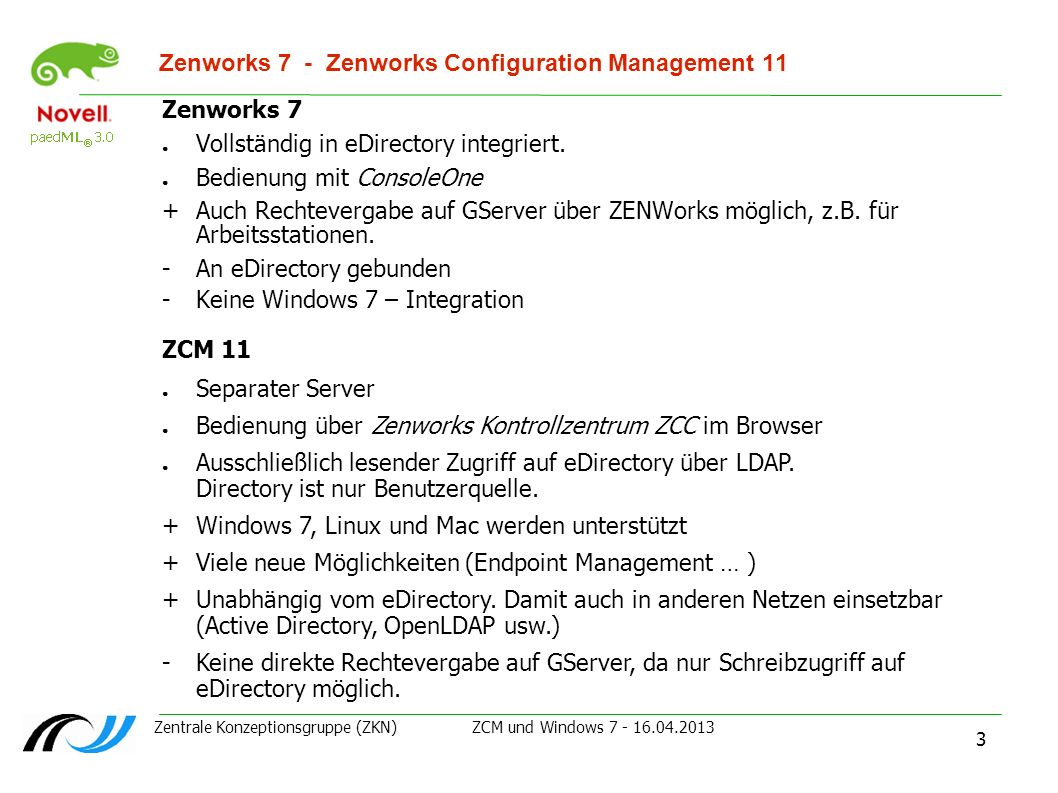 Zenworks 7 - Zenworks Configuration Management 11