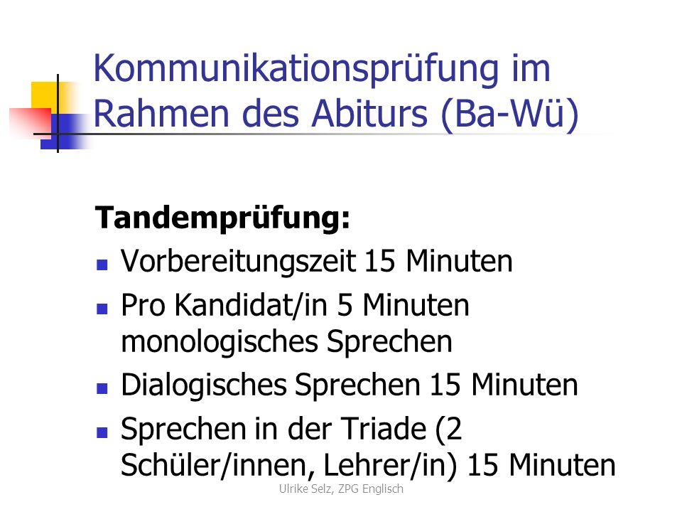 Kommunikationsprüfung im Rahmen des Abiturs (Ba-Wü)