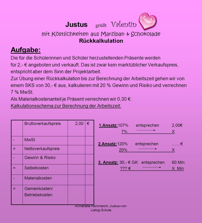 Annabelle Hemmerich, Justus-von-Liebig-Schule