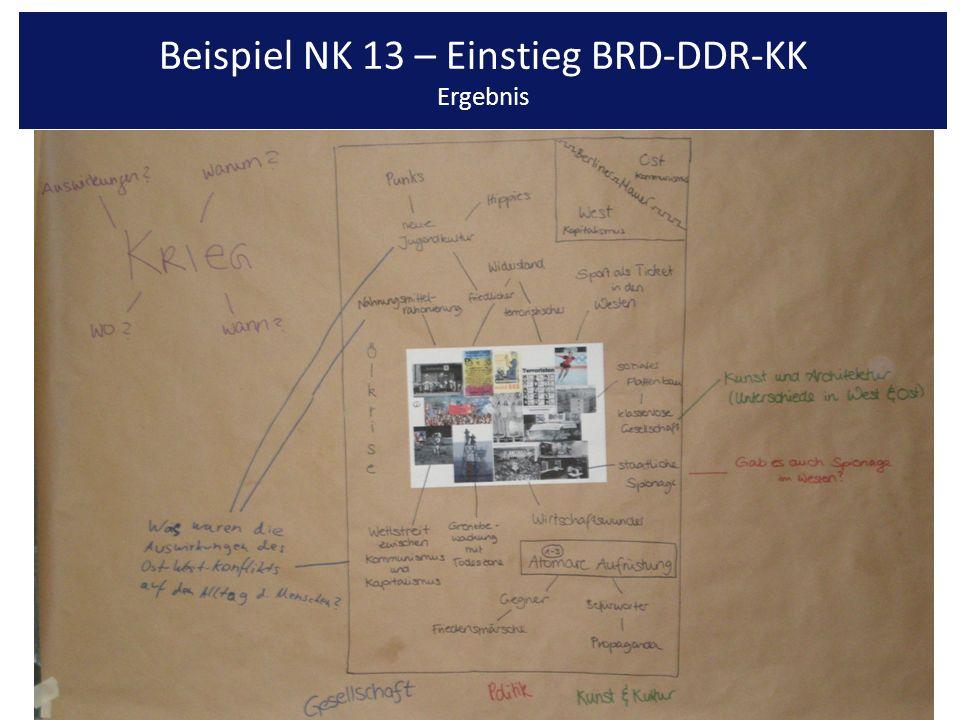 Beispiel NK 13 – Einstieg BRD-DDR-KK Ergebnis