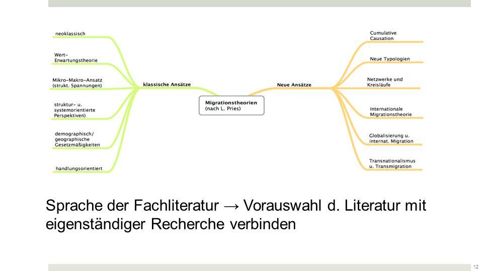 Sprache der Fachliteratur → Vorauswahl d