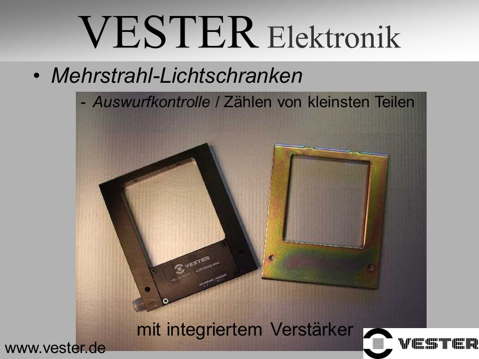 VESTER Elektronik Mehrstrahl-Lichtschranken