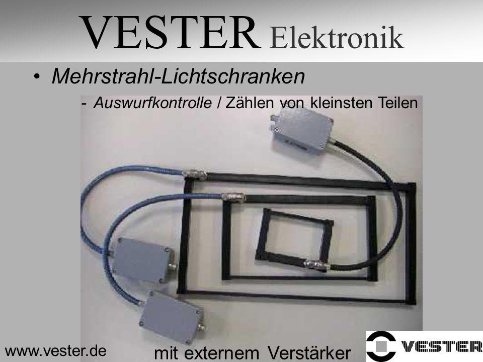 VESTER Elektronik Mehrstrahl-Lichtschranken mit externem Verstärker