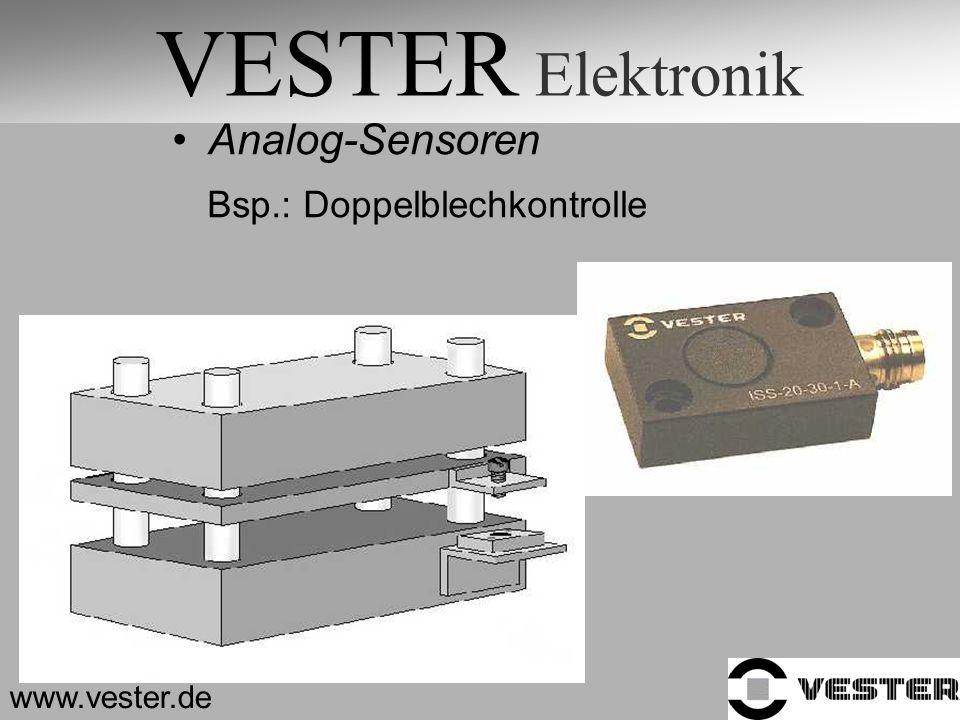 VESTER Elektronik Analog-Sensoren Bsp.: Doppelblechkontrolle