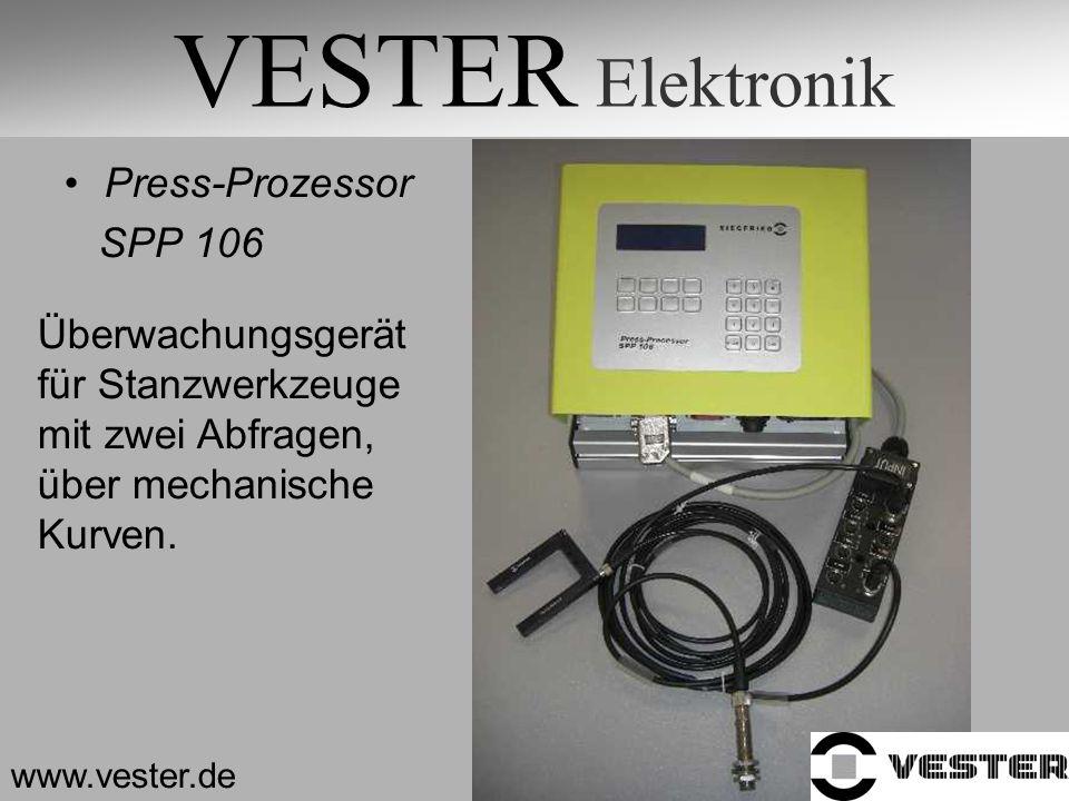 VESTER Elektronik Press-Prozessor SPP 106 Überwachungsgerät
