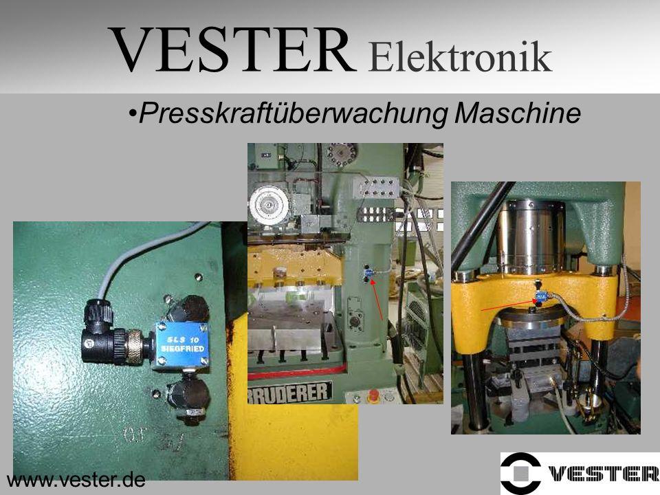 VESTER Elektronik Presskraftüberwachung Maschine www.vester.de
