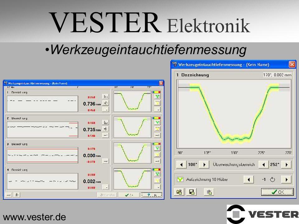 VESTER Elektronik Werkzeugeintauchtiefenmessung www.vester.de