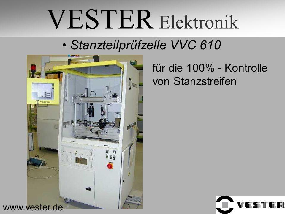 VESTER Elektronik Stanzteilprüfzelle VVC 610 für die 100% - Kontrolle