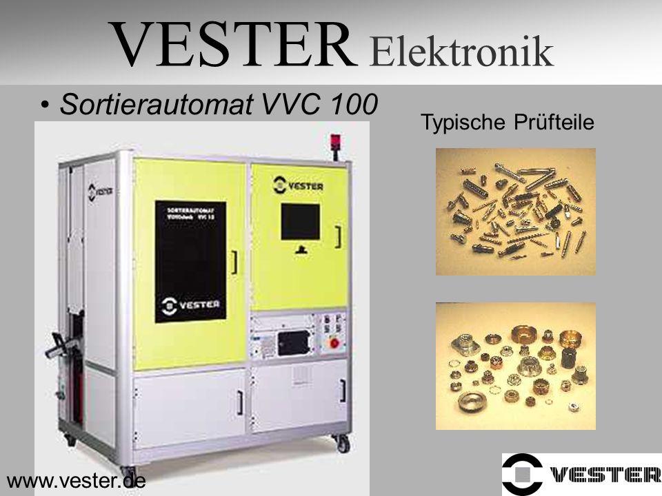 VESTER Elektronik Sortierautomat VVC 100 Typische Prüfteile