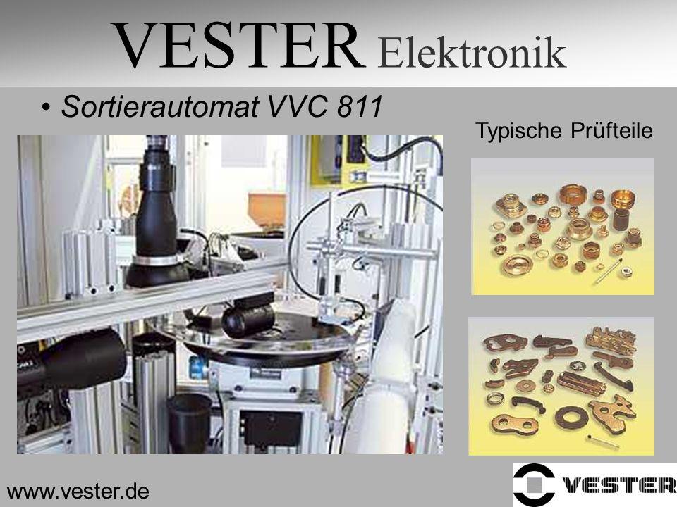 VESTER Elektronik Sortierautomat VVC 811 Typische Prüfteile