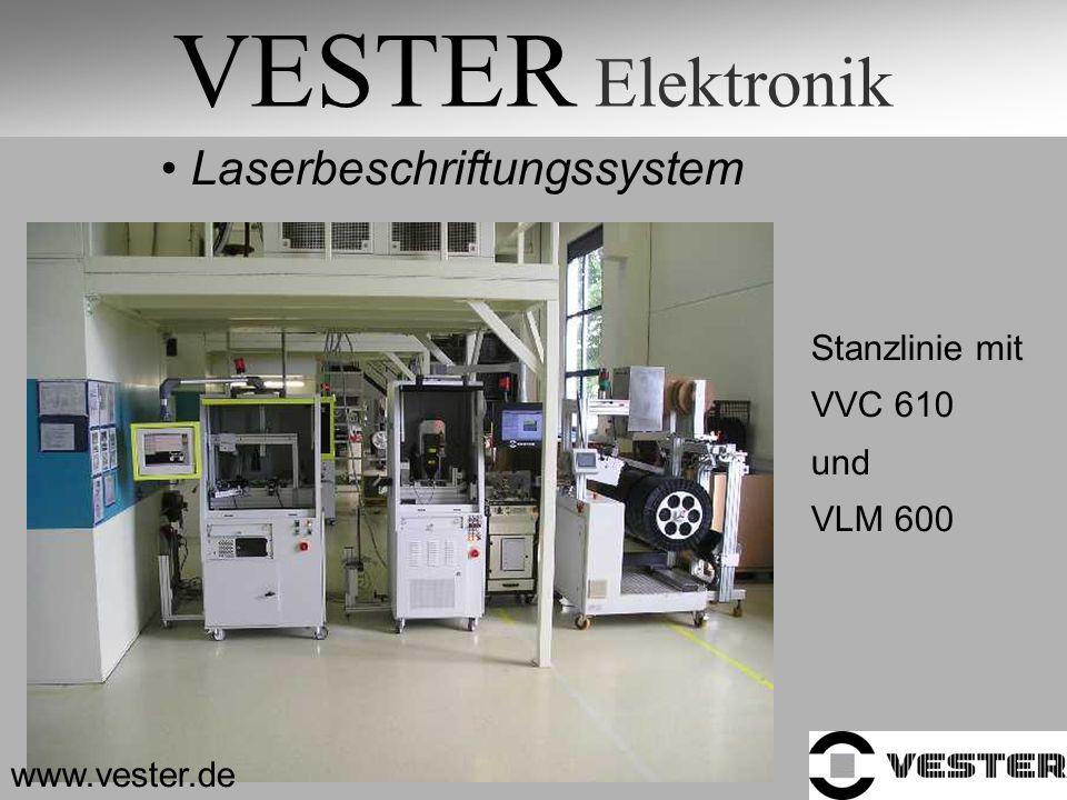 VESTER Elektronik Laserbeschriftungssystem Stanzlinie mit VVC 610 und