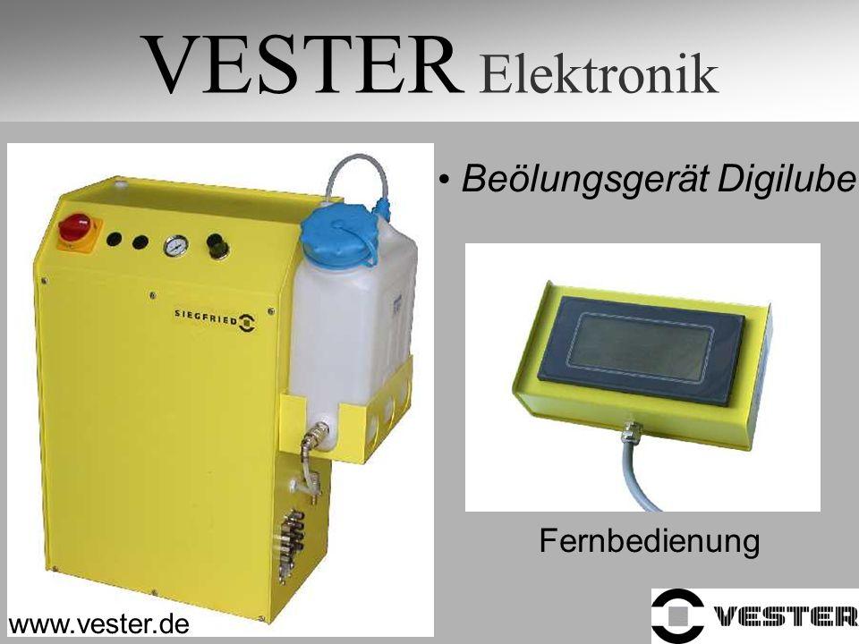 VESTER Elektronik Beölungsgerät Digilube Fernbedienung www.vester.de